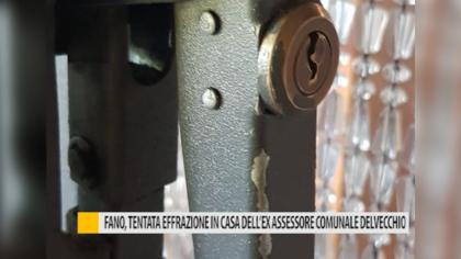 Fano, tentata effrazione in casa del'ex assessore comunale Delvecchio – VIDEO