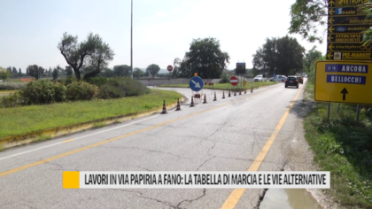 Lavori in Via Papiria a Fano: la tabella di marcia e le vie alternative – VIDEO
