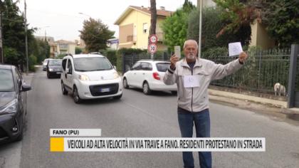 Veicoli ad alta velocità in via trave a Fano. Residenti protestano in strada – VIDEO