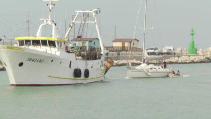 Paura in mare: giovane velista fanese in avaria salvato da un motopesca (foto e video)
