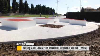 Interquartieri Fano: tre rotatorie riqualificate dal comune – VIDEO