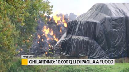 Ghilardino: 10000 quintali di paglia a fuoco in un'azienda agricola – VIDEO