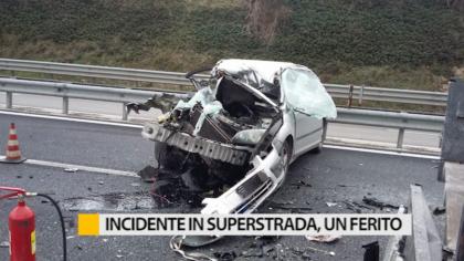 Incidente sulla superstrada Fano – Grosseto, un ferito – VIDEO