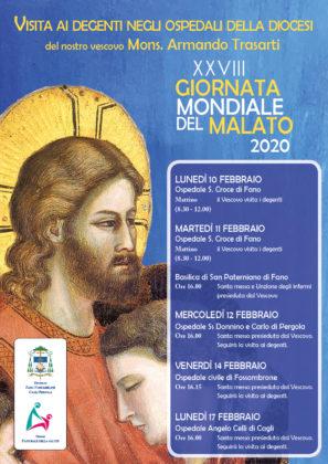Giornata del Malato: la visita del Vescovo Trasarti negli ospedali della Diocesi
